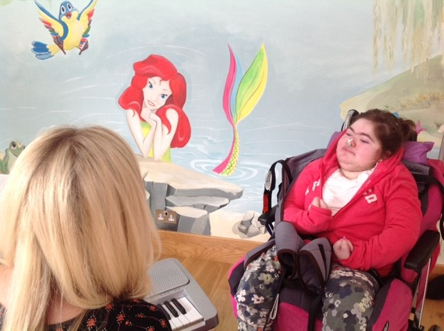 Emmeline working at ELM Music Therapy